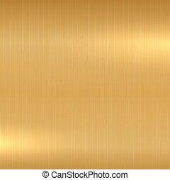 Gold metallic background - Polished texture. Vector illustration eps10.