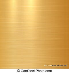 Gold metallic background. Polished texture.