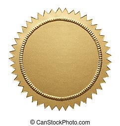 Gold Metallic Seal