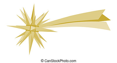 GOLD METEOR - ABSTRACT CHRISTMAS DECORATION; STAR OF...