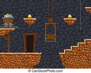 Gold mine - Additional part of my gold mine background with...