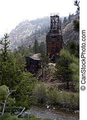 Gold Mine in Rain - An old abandoned Colorado gold mine...