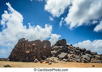 Gold Mine Ruins - Historic Bushiribana Gold Mine ruins...