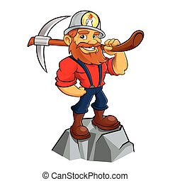 Gold miner cartoon