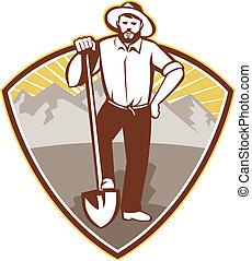 gold-miner-shovel-shield - illustration of a gold digger...