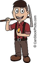 Gold miner vector cartoon