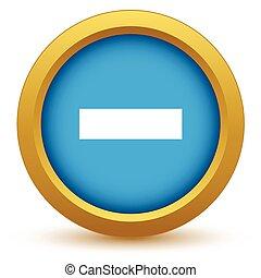 Gold minus icon
