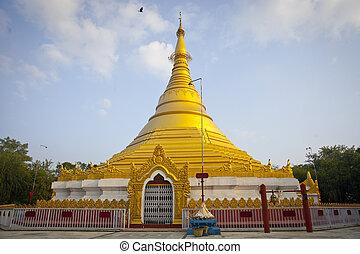 Gold Monastery in Lumbini, Nepal