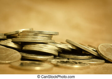 Gold money coins