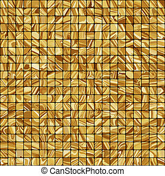 Gold mosaic background. EPS 8