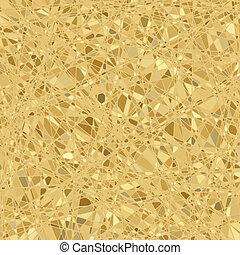 Gold mosaic background. EPS 8