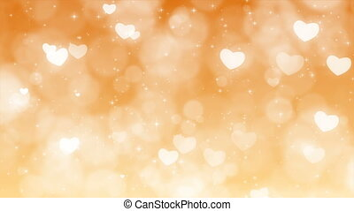 Gold Mothers Day Background with Particles, Sparkles and Hearts.