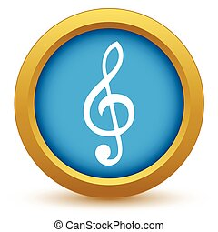 Gold music icon