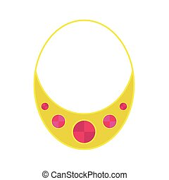 Gold necklace decoration vector.