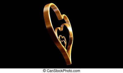 Gold Nested Hearts