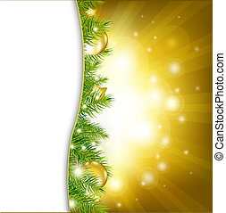 Gold New Year Card