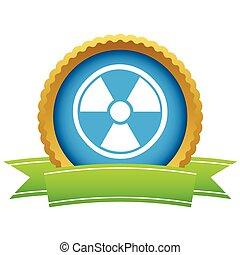 Gold nuclear logo