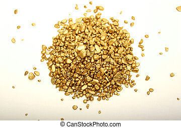 Digital photo of gold nuggets.