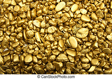 Gold Nuggets - Digital photo of gold nuggets.