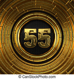 Gold number fifty-five years celebration - Gold number 55 (...