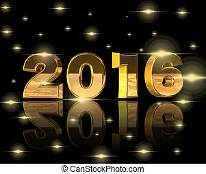gold numerics for New Year with sparkles - gold numerics for...
