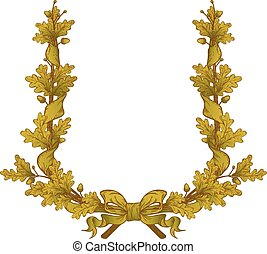 Gold Oak Wreath