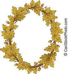 Gold Oak Wreaths