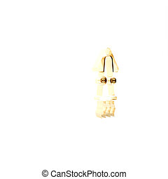 Gold Octopus icon isolated on white background. 3d illustration 3D render
