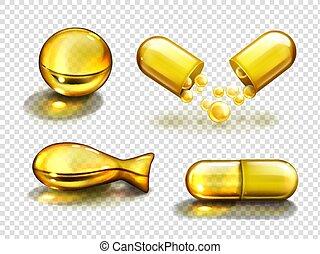 Gold oil capsules, vitamine supplements, collagen - Gold oil...