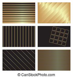 gold on black backgrounds
