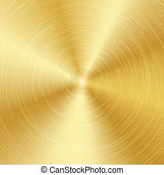 Gold Or Bronze Metal Abstract Technology Background. Polished, Brushed Texture. Vector illustration.