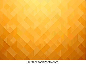 Gold-orange Mosaic Background
