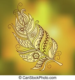 gold ornamental feather
