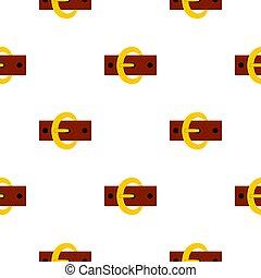 Gold oval buckle pattern flat
