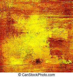 gold paint grunge
