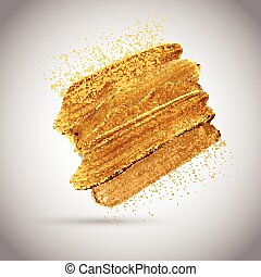 gold paint strokes 2002