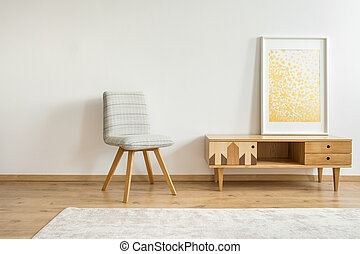 Gold painting in room