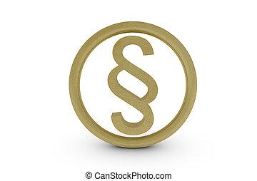 Gold paragraph symbol - illustration
