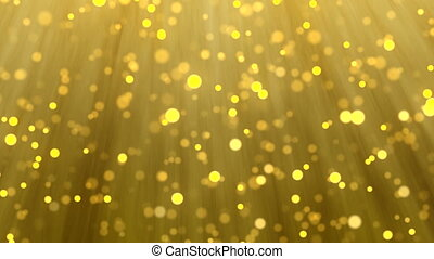 Gold particle blur light background for christmas