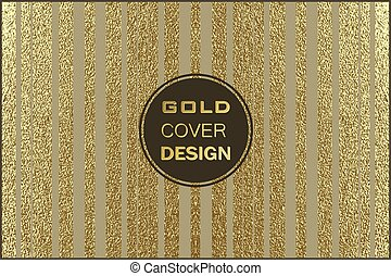 Gold pattern. Abstract golden background. Vector illustration.