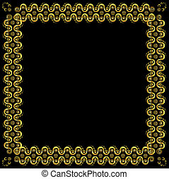 Gold pattern frame