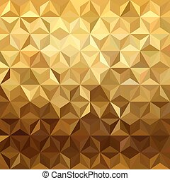 Gold pattern low poly 3d triangle geometry fancy