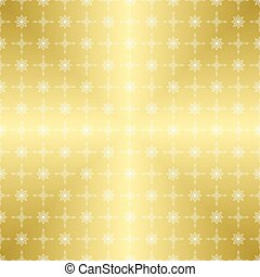 gold pattern with white ornament - vector