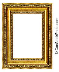 gold-patterned, κορνίζα , για , ένα , εικόνα