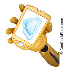 gold pda with cloud computing