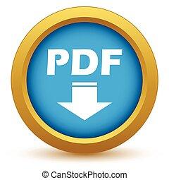 Gold pdf download icon