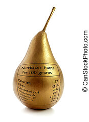Gold pear superfood concept