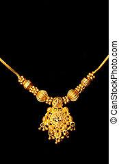 Gold Pendant - Beautiful Indian artwork displayed at a...