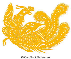 Gold phoenix - Chinese traditional culture, Chinese Zodiac...