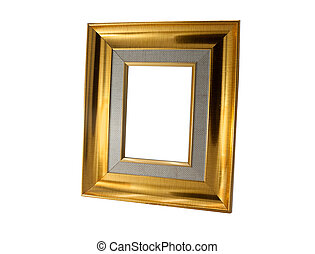gold picture frame. isolated on white